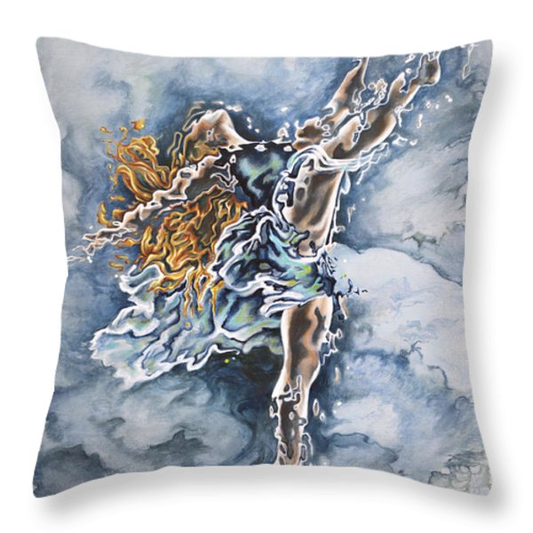 Believe Throw Pillow by Karina Llergo Salto