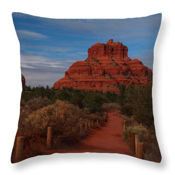 Bell Rock Throw Pillow by James Peterson