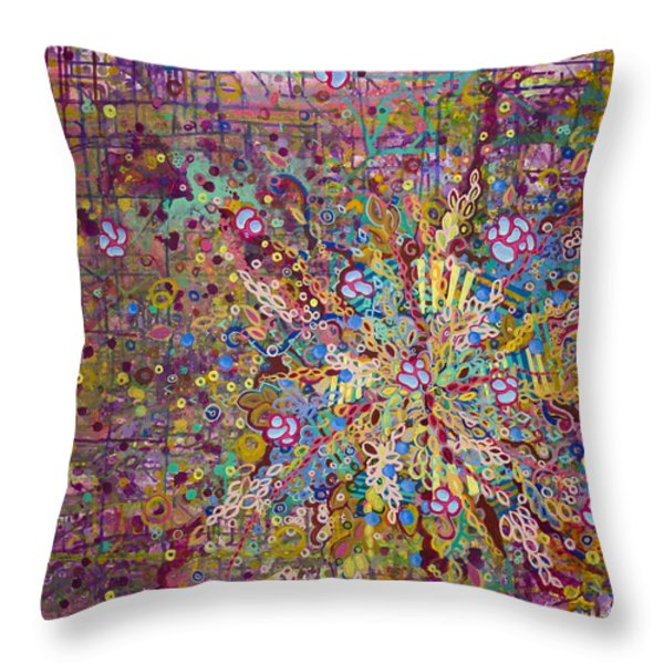 Belle Cell Throw Pillow by Angela Canada-Hopkins