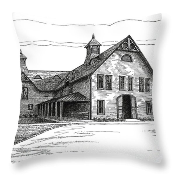 Belle Meade Plantation Carriage House Throw Pillow by Janet King