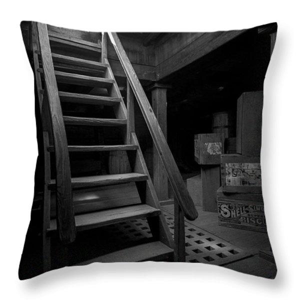 Below Deck - Charles W Morgan Whaling Ship Throw Pillow by Gary Heller
