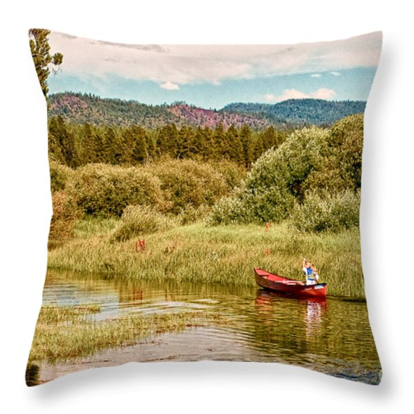 Bend/Sunriver Thousand Trails Throw Pillow by  Bob and Nadine Johnston