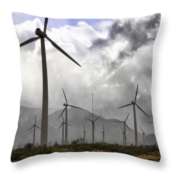 BENEATH THE CLOUDS Palm Springs Throw Pillow by William Dey