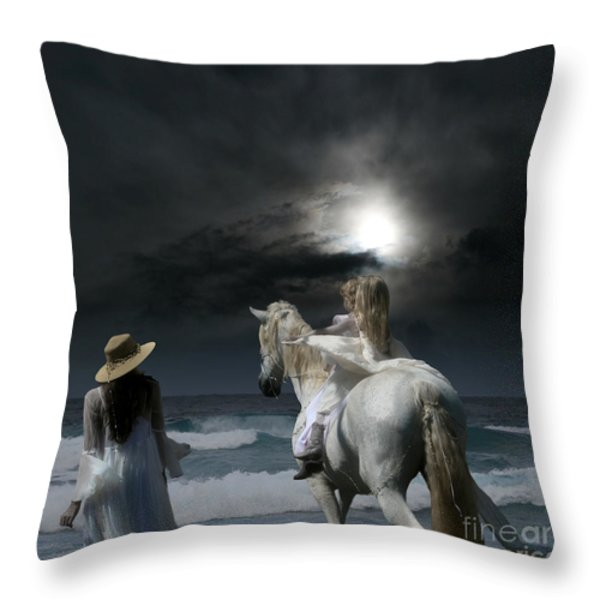 Beneath the illusion in Colour Throw Pillow by Sharon Mau