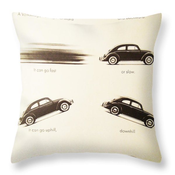 Benefits of a Volkwagen Throw Pillow by Nomad Art And  Design