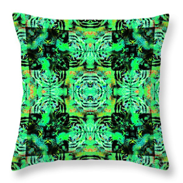 Bengal Tiger Abstract 20130205m180 Throw Pillow by Wingsdomain Art and Photography