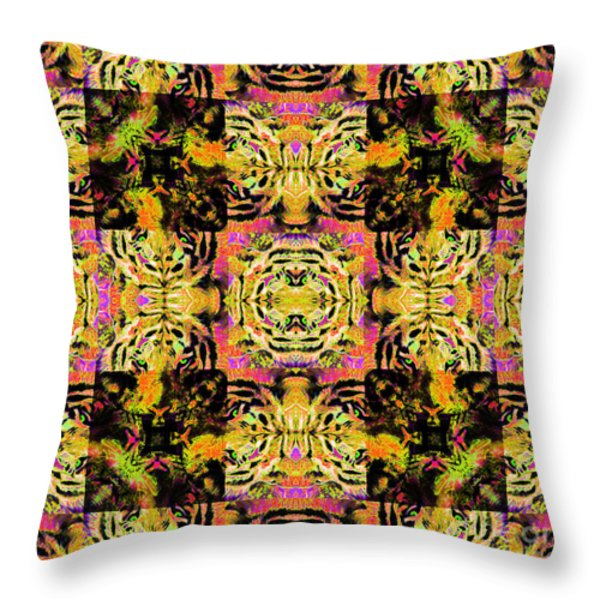 Bengal Tiger Abstract 20130205p80 Throw Pillow by Wingsdomain Art and Photography
