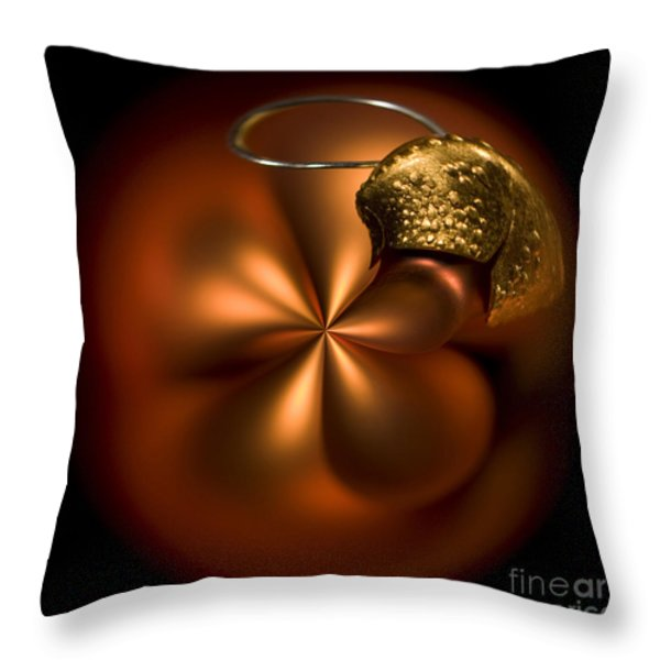 Bent Bauble Throw Pillow by Anne Gilbert