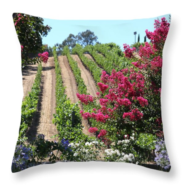 Benziger Winery In The Sonoma California Wine Country 5d24495 Vertical Throw Pillow by Wingsdomain Art and Photography