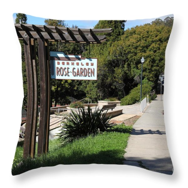 Berkeley Rose Garden 5D22426 Throw Pillow by Wingsdomain Art and Photography
