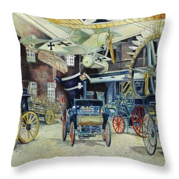 Berlin Transport And Technology Museum Throw Pillow by Leisa Shannon Corbett