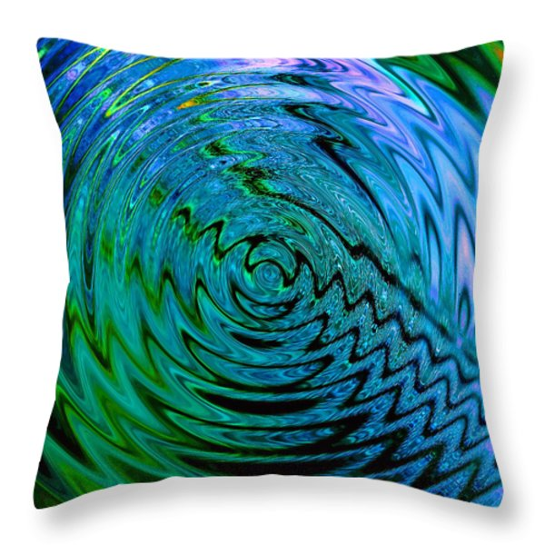 Bermuda Blue Throw Pillow by Michael Durst