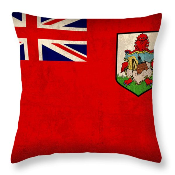Bermuda Flag Vintage Distressed Finish Throw Pillow by Design Turnpike