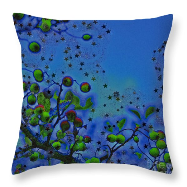 Berry Sky Magic By Jrr Throw Pillow by First Star Art