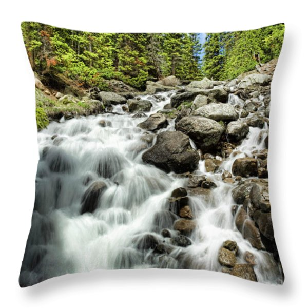 Berthoud Falls Throw Pillow by Jim Garrison