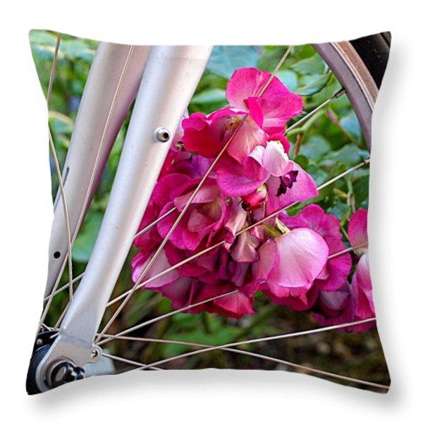 Bespoke Flower Arrangement Throw Pillow by Rona Black