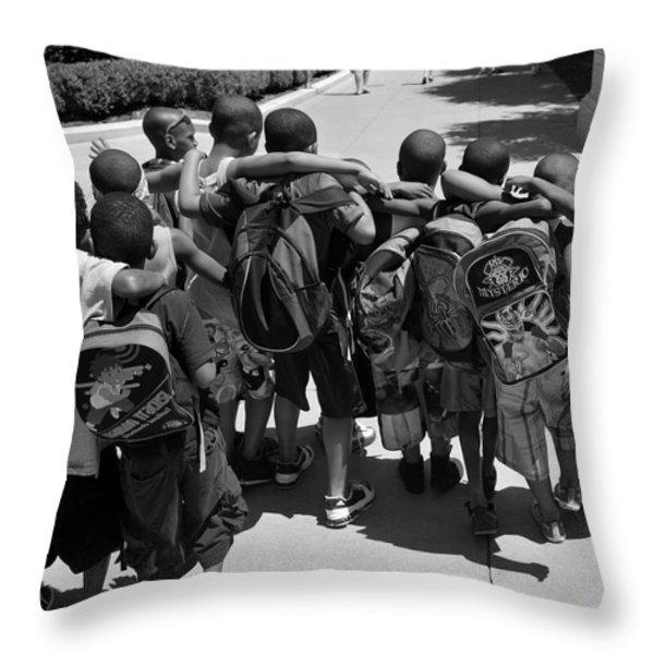 Best Friends Throw Pillow by Art K