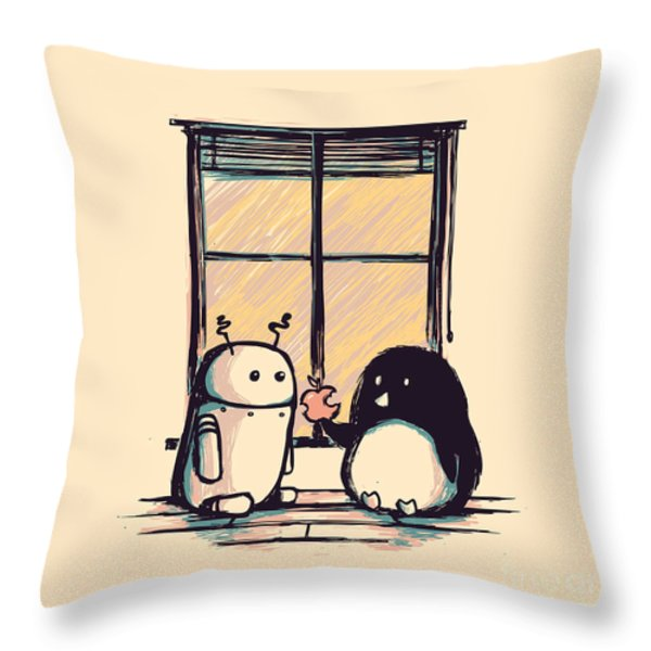 Best Friends Throw Pillow by Budi Kwan