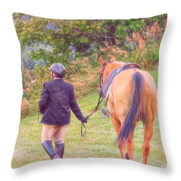Best Friends Throw Pillow by Karol Livote