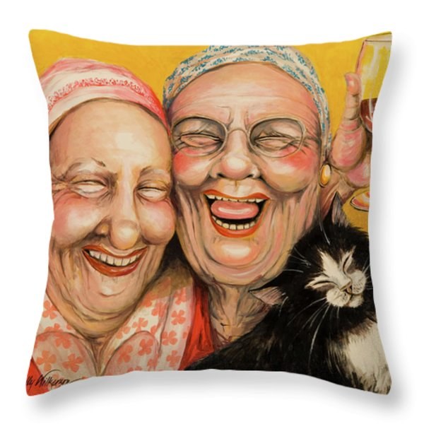 Bestest Friends Throw Pillow by Shelly Wilkerson