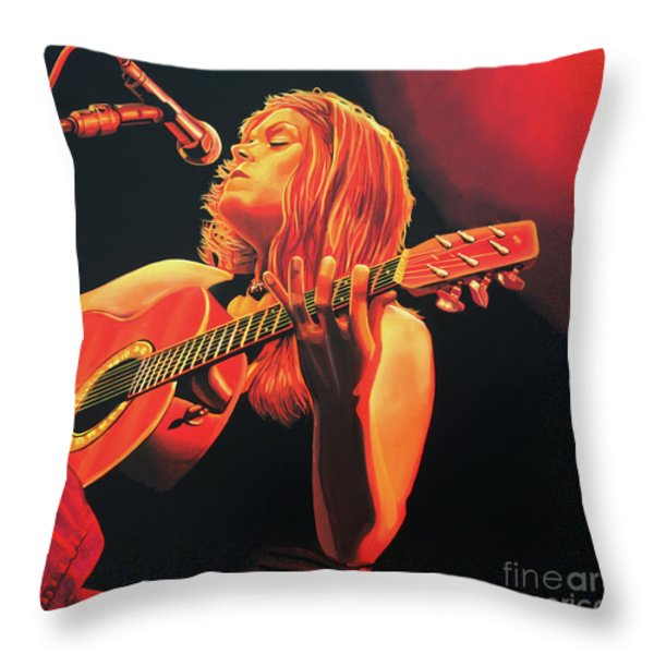 Beth Hart  Throw Pillow by Paul Meijering