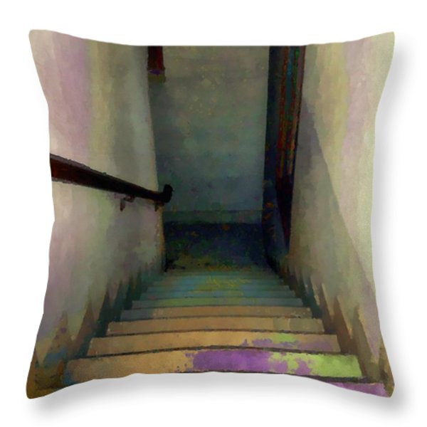 Between Floors Throw Pillow by RC deWinter