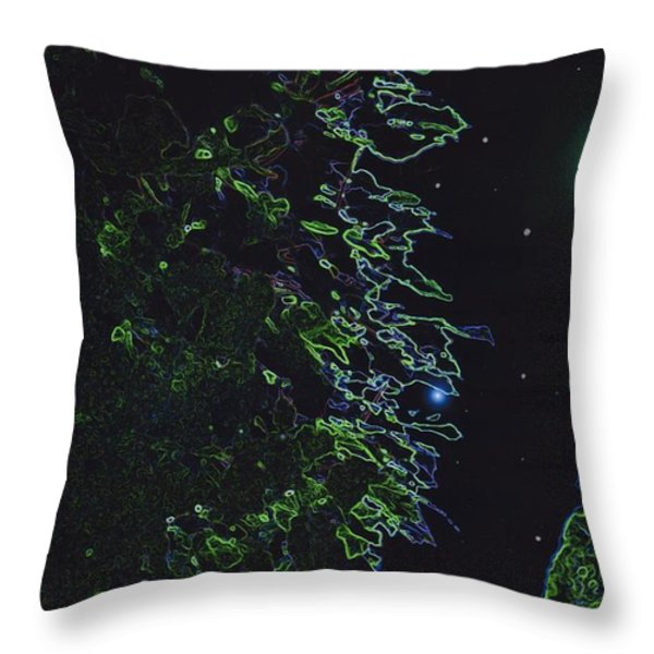 Between The Hedges  Throw Pillow by First Star Art