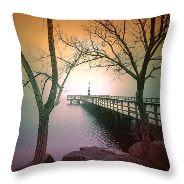 Between Two Trees Throw Pillow by Tara Turner