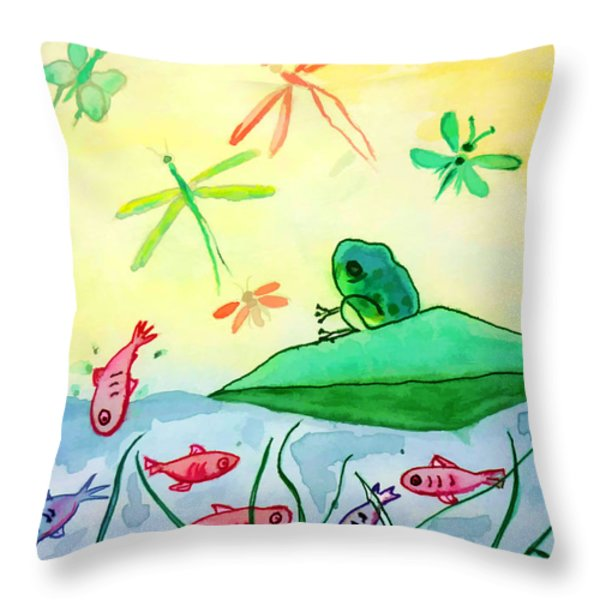 Between two worlds Throw Pillow by Jo Ann