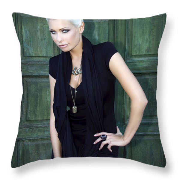 Bewitching Beauty Palm Springs Throw Pillow by William Dey