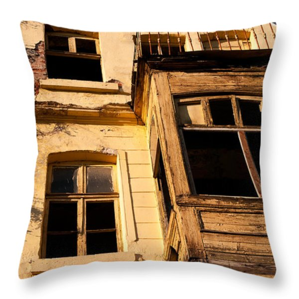 Beyoglu Old House 02 Throw Pillow by Rick Piper Photography