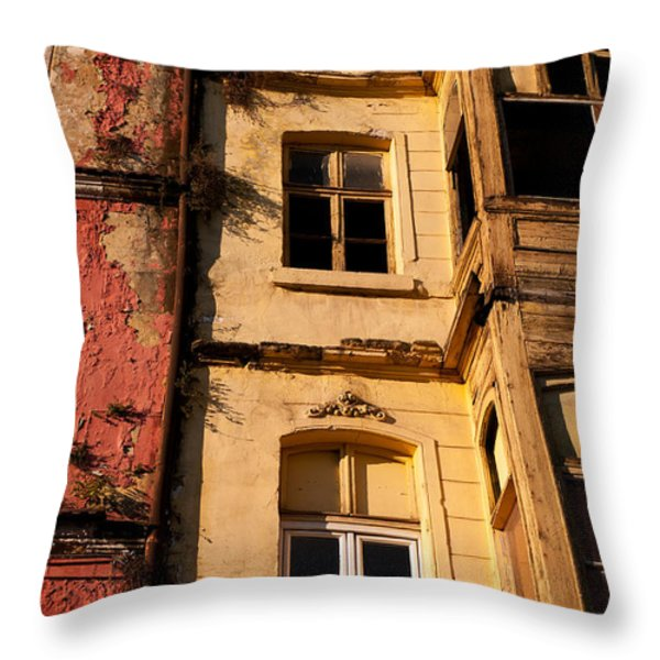 Beyoglu Old Houses 01 Throw Pillow by Rick Piper Photography