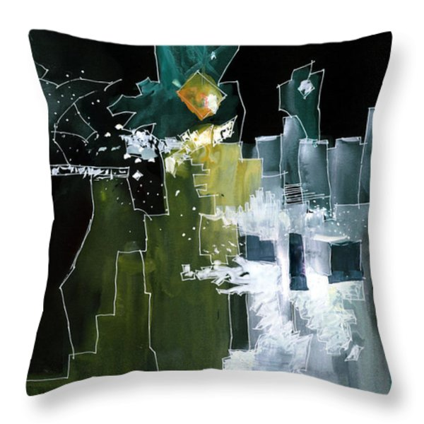 Beyond Horizons Throw Pillow by Anil Nene