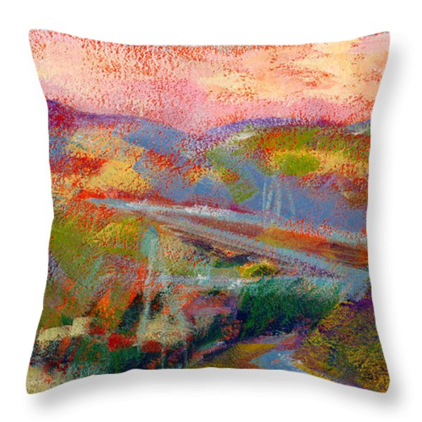 Beyond The City Throw Pillow by Athena Mantle