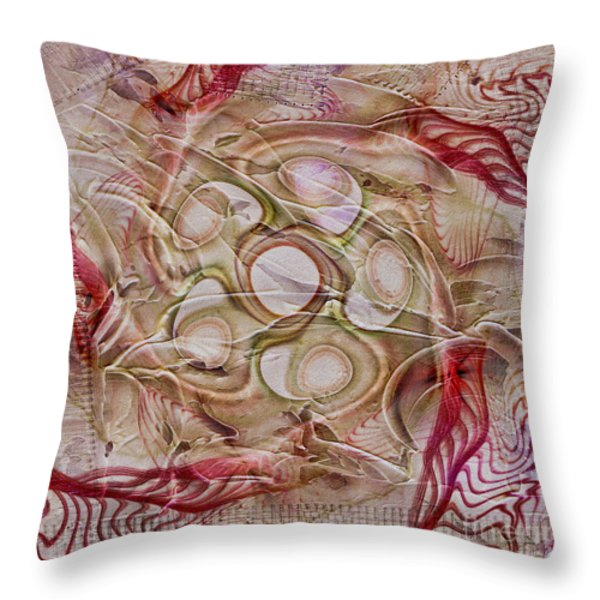 Beyond The Vale Throw Pillow by Deborah Benoit