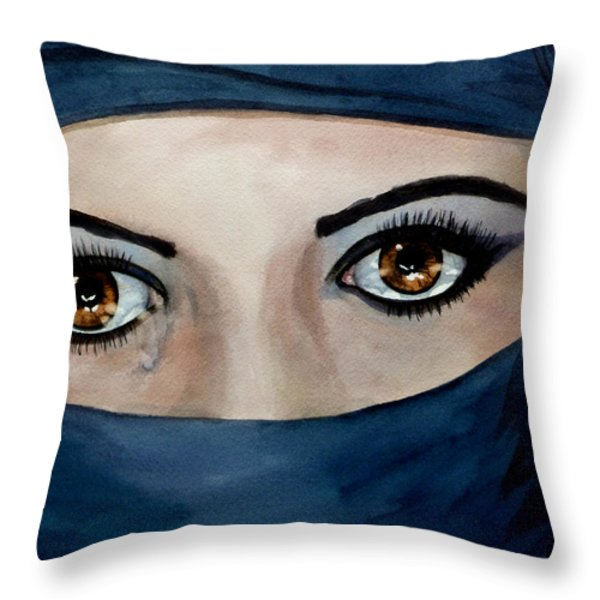 Beyond the Veil Throw Pillow by Michal Madison