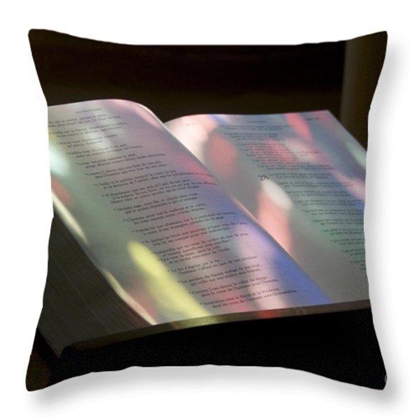Bible Throw Pillow by BERNARD JAUBERT