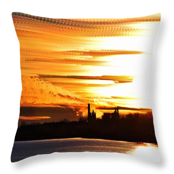 Big Ball of Fire Throw Pillow by Matt Molloy