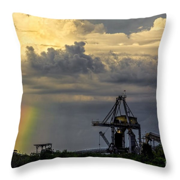 Big Bend Rainbow Throw Pillow by Marvin Spates