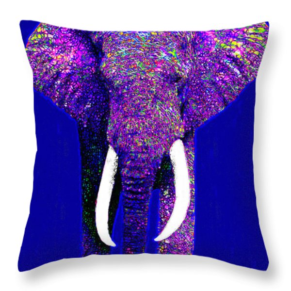 Big Elephant 20130201m118 Throw Pillow by Wingsdomain Art and Photography