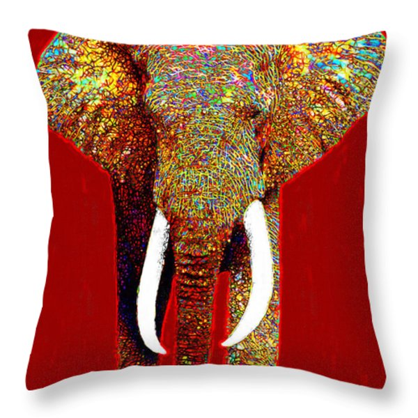 Big Elephant 20130201p0 Throw Pillow by Wingsdomain Art and Photography