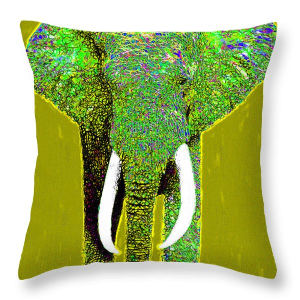 Big Elephant 20130201p60 Throw Pillow by Wingsdomain Art and Photography
