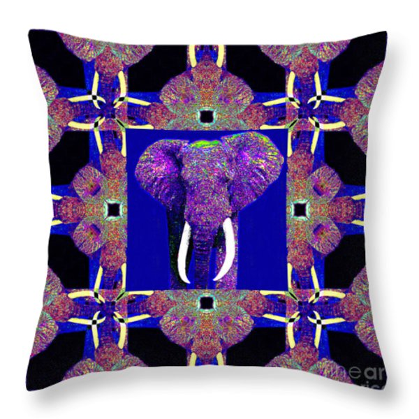 Big Elephant Abstract Window 20130201m118 Throw Pillow by Wingsdomain Art and Photography