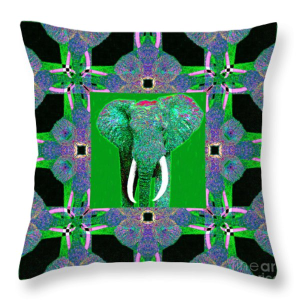 Big Elephant Abstract Window 20130201p128 Throw Pillow by Wingsdomain Art and Photography