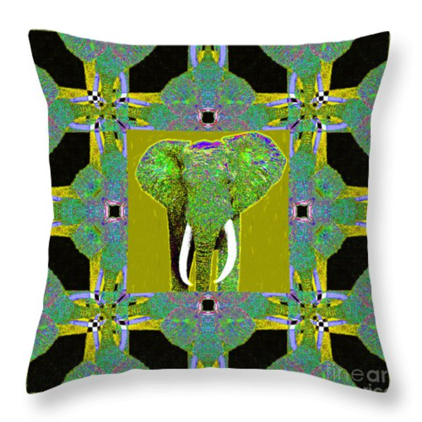 Big Elephant Abstract Window 20130201p60 Throw Pillow by Wingsdomain Art and Photography