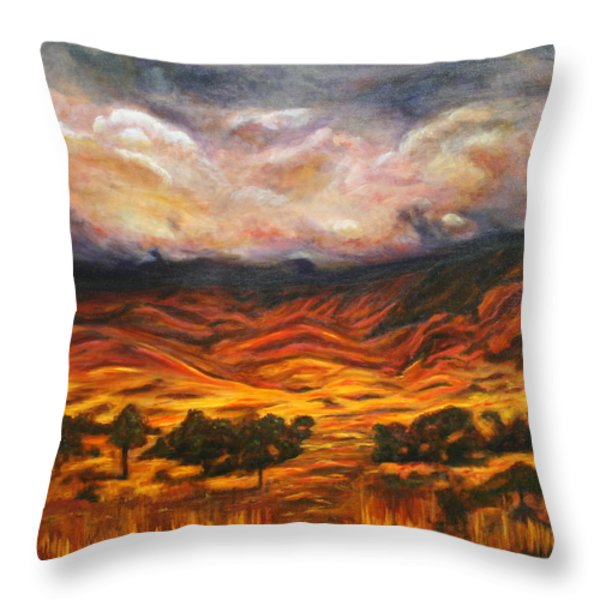 Big Gountry - Mac Donnell Ranges Australia Throw Pillow by Lyndsey Hatchwell