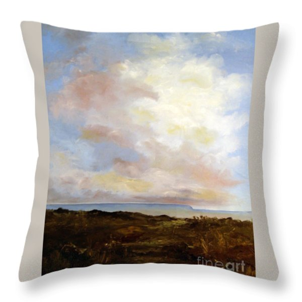 Big Sky Country Throw Pillow by Lee Piper