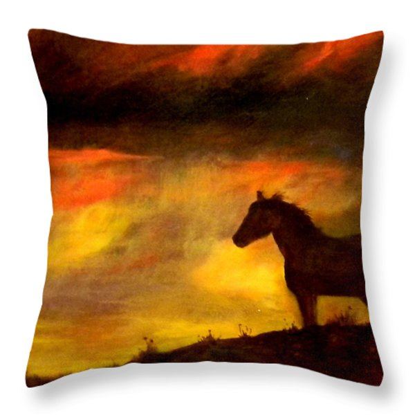Big Sky Throw Pillow by Judie White