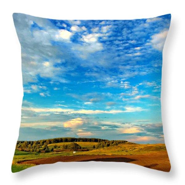 Big Sky Ontario Throw Pillow by Steve Harrington