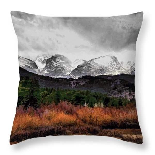 Big Storm Throw Pillow by Jon Burch Photography